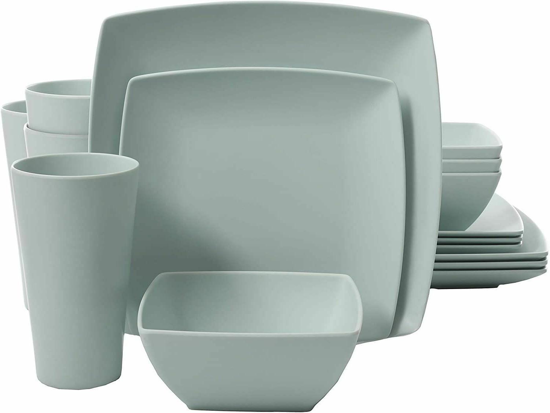 soho grayson square melamine dinnerware set service