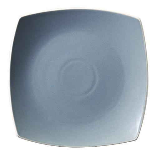 Gibson Home 102266.16RM Soho Lounge Square 16-Piece Dinnerware Service of 4, Stoneware, Grey, Dinnware