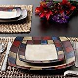 Gibson Soho Lounge Mosaic 16-Piece Dinnerware Set, Made of S