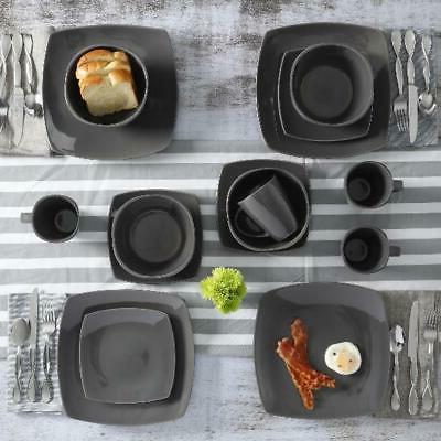 Square Stoneware Plates Bowls Home,
