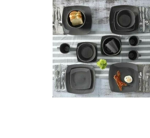 Square Stoneware - piece Set Plates Bowls Home, SOHO