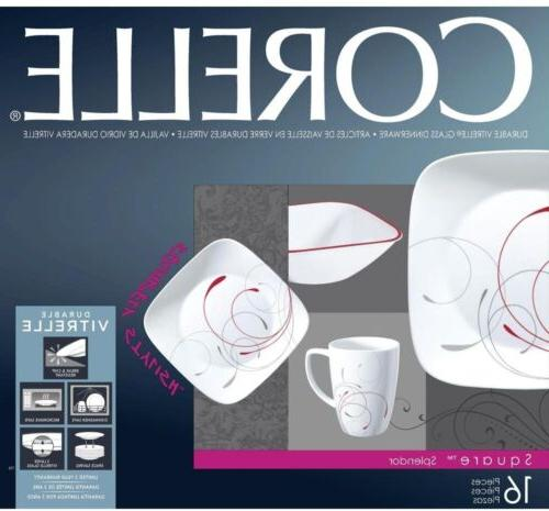 Corelle 16-Piece Vitrelle Dinnerware Set