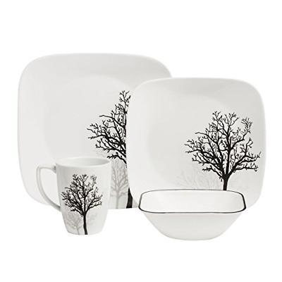 square 16 piece dinnerware set timber shadows