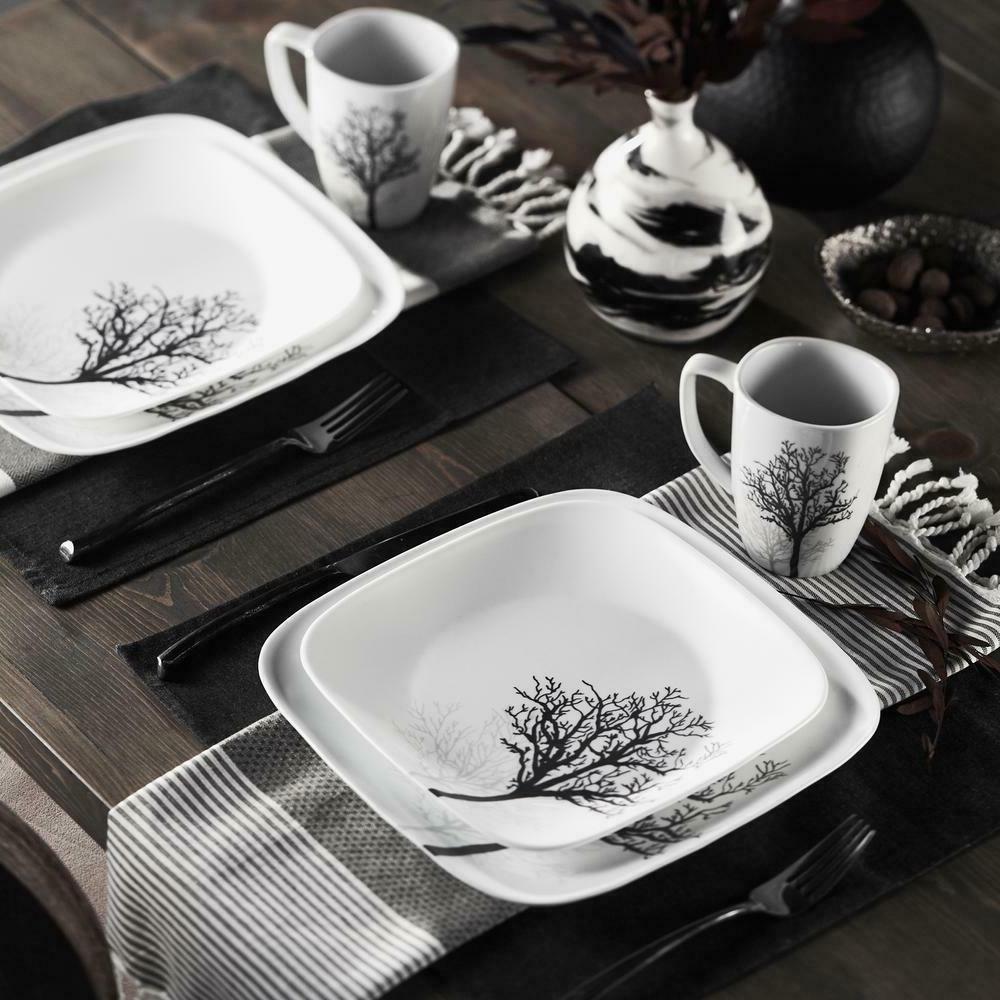 Corelle® Square™ 16pc Dinnerware Set Timber Shadow