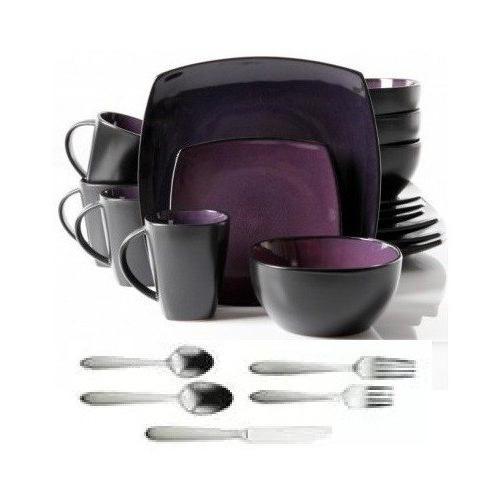 square dinnerware service