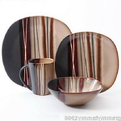 Piece Plates Bowls Kitchen
