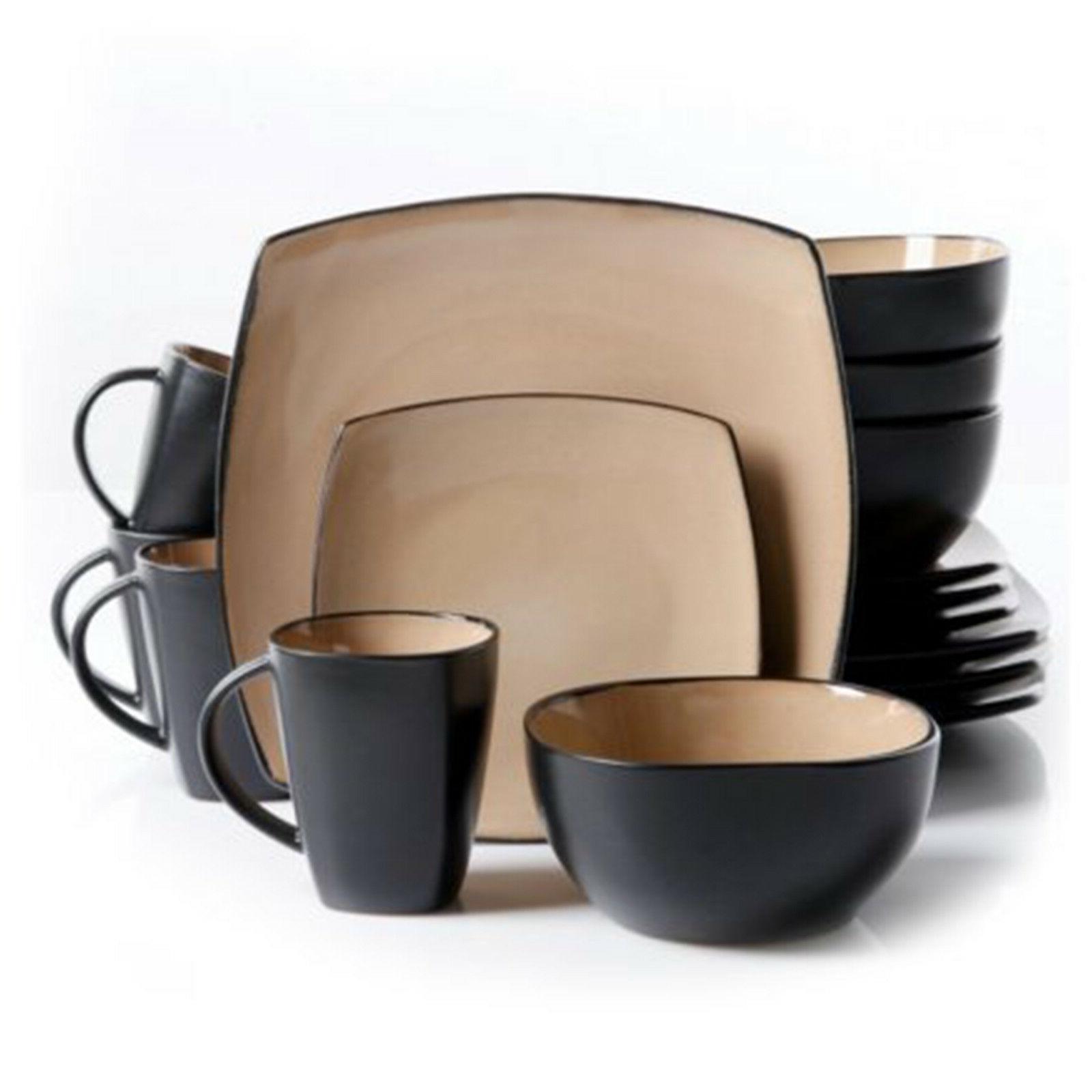 Square Dinnerware 8 85Pcs 32Pc Plates Dishes Mug