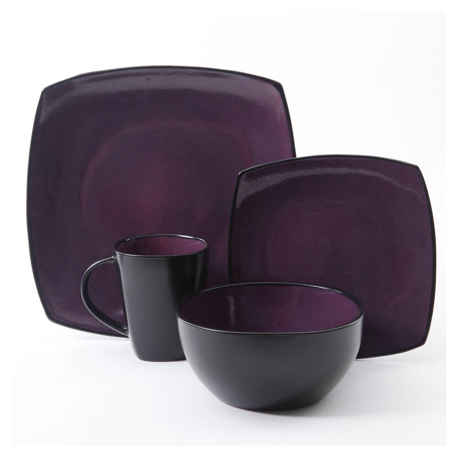 Square Dinnerware Set 8 85Pcs Kitchen 32Pc Plates Dishes Mug