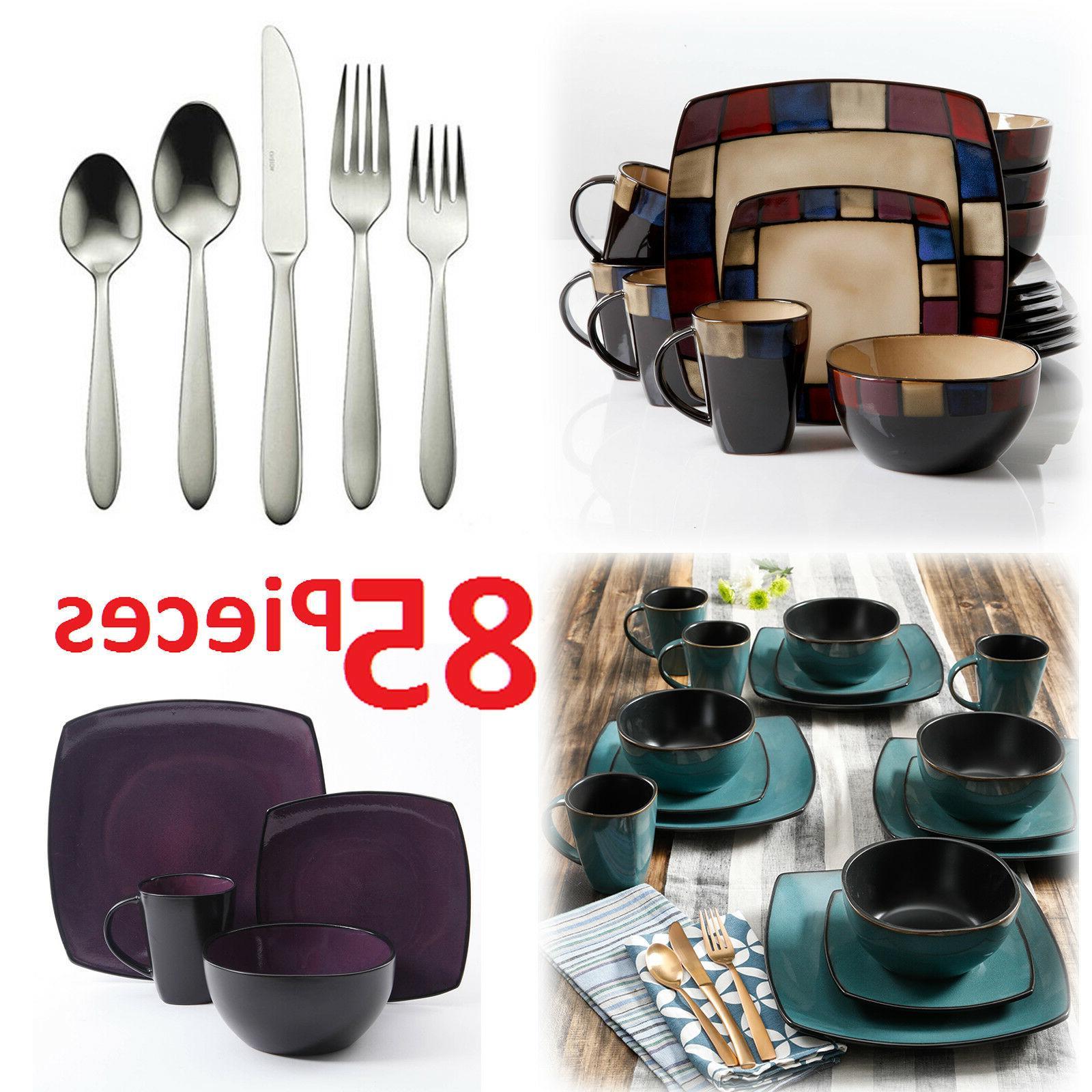 Square For 8 85Pcs 32Pc Plates Bowls Dishes Mug