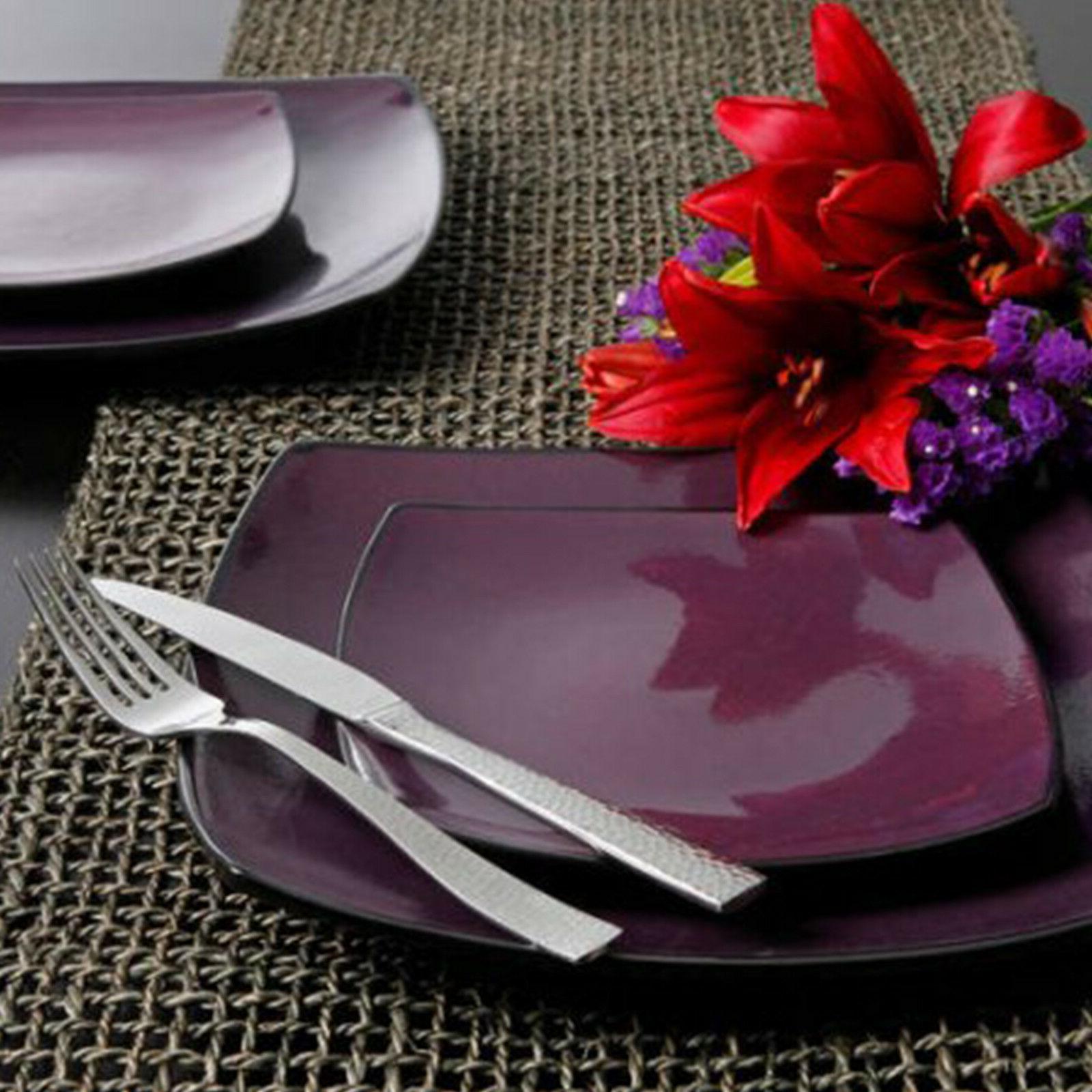 Square Dinnerware Set 8 85Pcs 32Pc Plates Bowls Dishes Mug