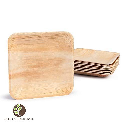 square disposable palm leaf paper