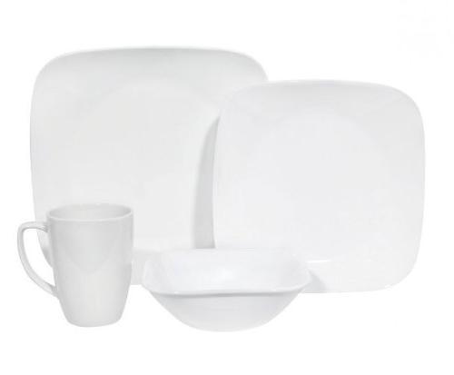 square white dinnerware