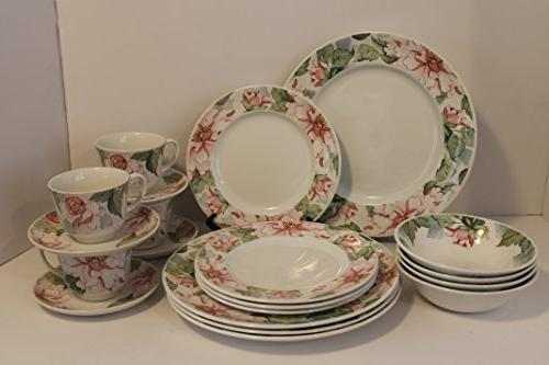 staffordshire pattern dinnerware set 20