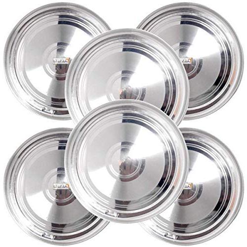 stainless steel round dinner plates