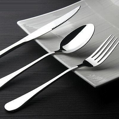 Stainless Steel Table Knife Fork Spoon Teaspoon Set Dinnerwa