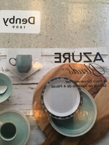denby stoneware 4 Piece azure