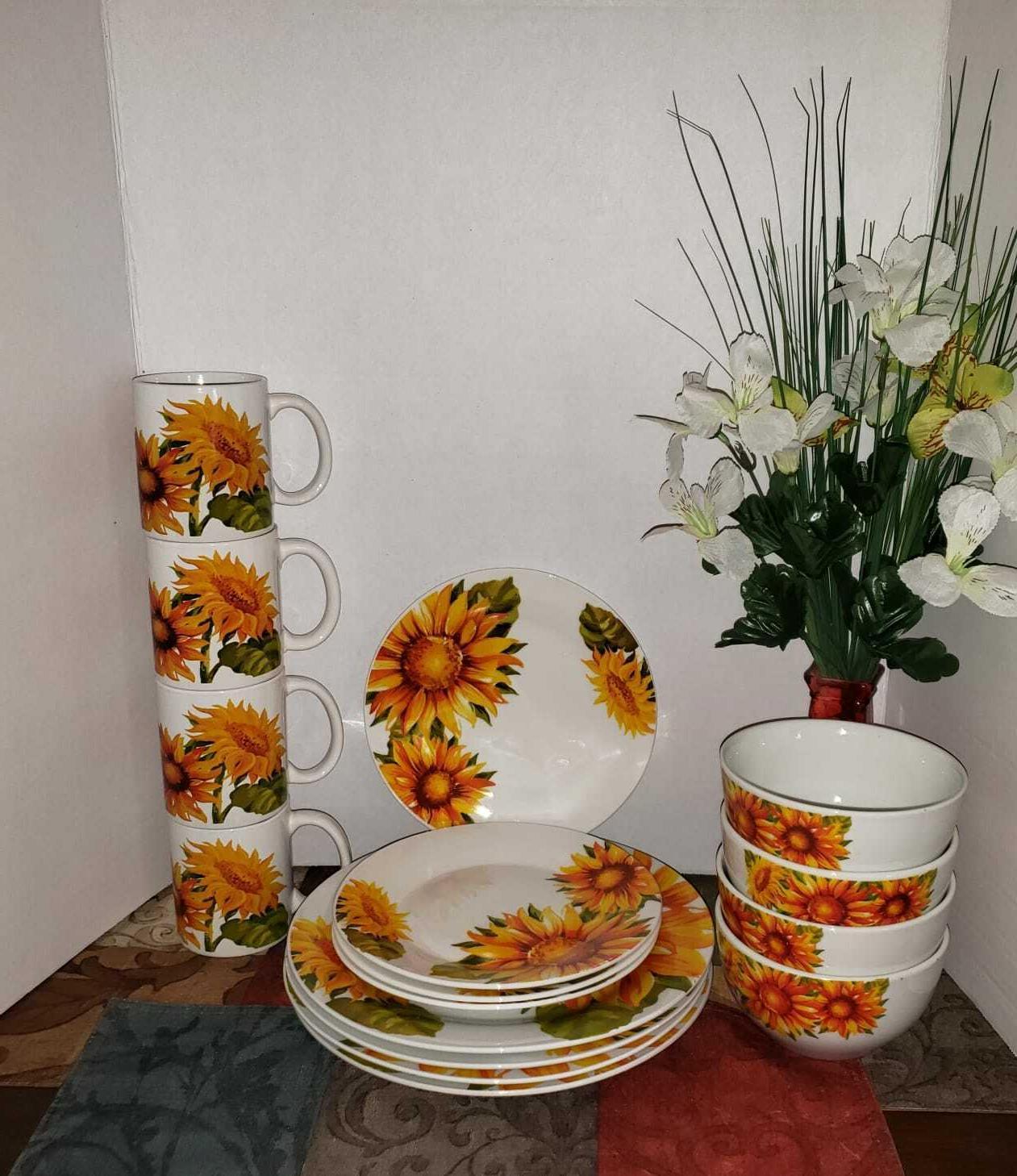 Sunflower Dinnerware Home Collection Piece