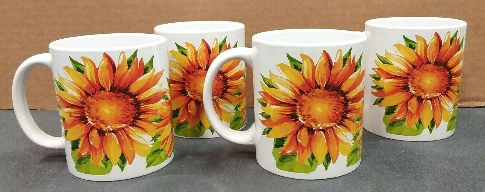 sunflower dinnerware home collection set 16 piece