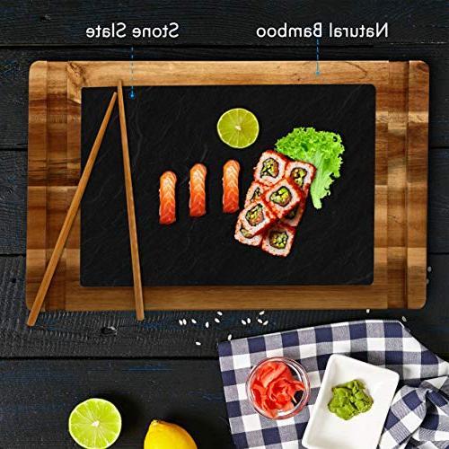 Sushi Dessert Set Slate 2 Pair of - Sauce - PKSUSH10