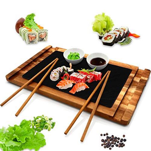 sushi wood board serving platter