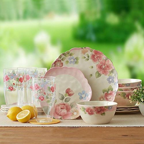 Pfaltzgraff Rose Outdoor Dinnerware Set