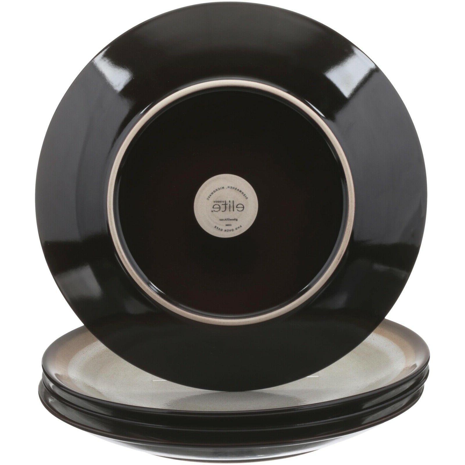 Gibson Home Terra Blue 16-Piece Dinnerware Set
