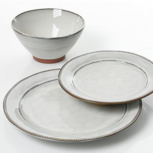 Gibson Piece Dinnerware Set, White