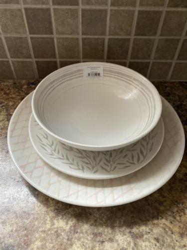 Lenox Textured 12-piece Dinnerware Set 4 NIB