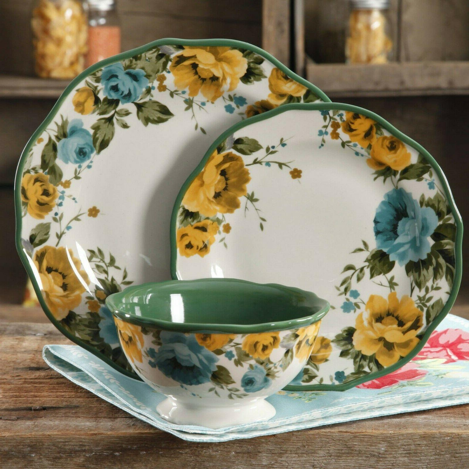 the pioneer woman 12 piece dinnerware set
