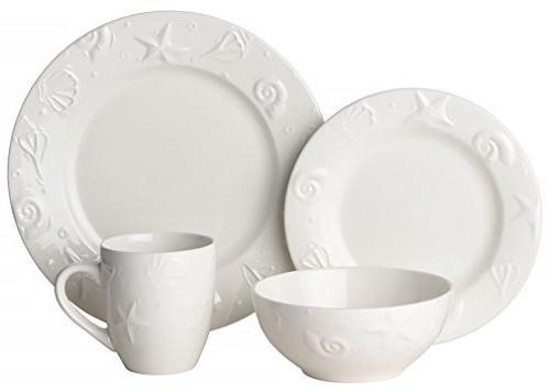 thomson embossed shell dinnerware set