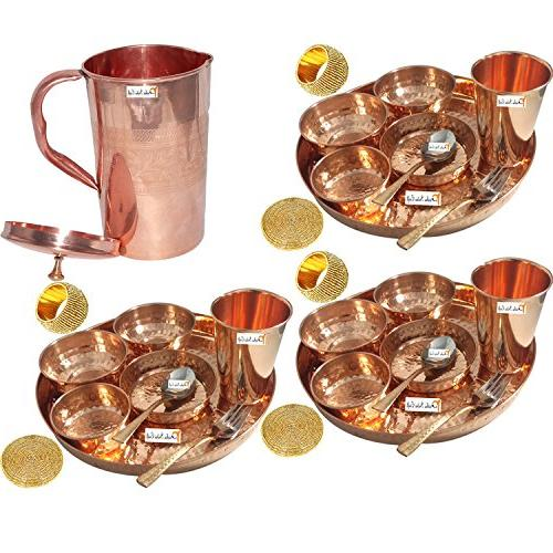 traditional indian dinnerware copper dinner