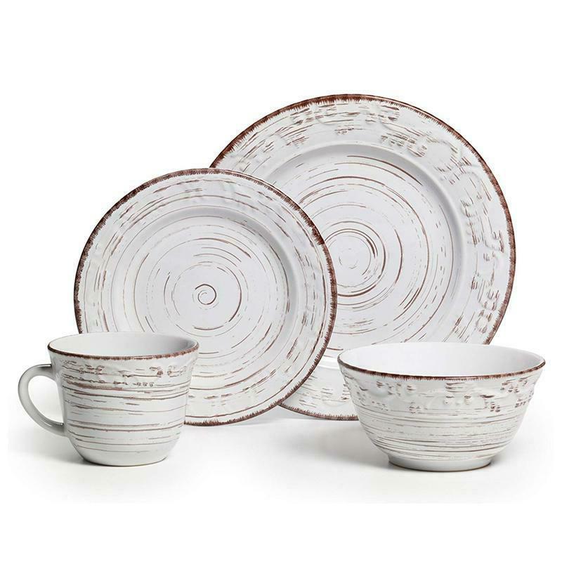 trellis white dinnerware set