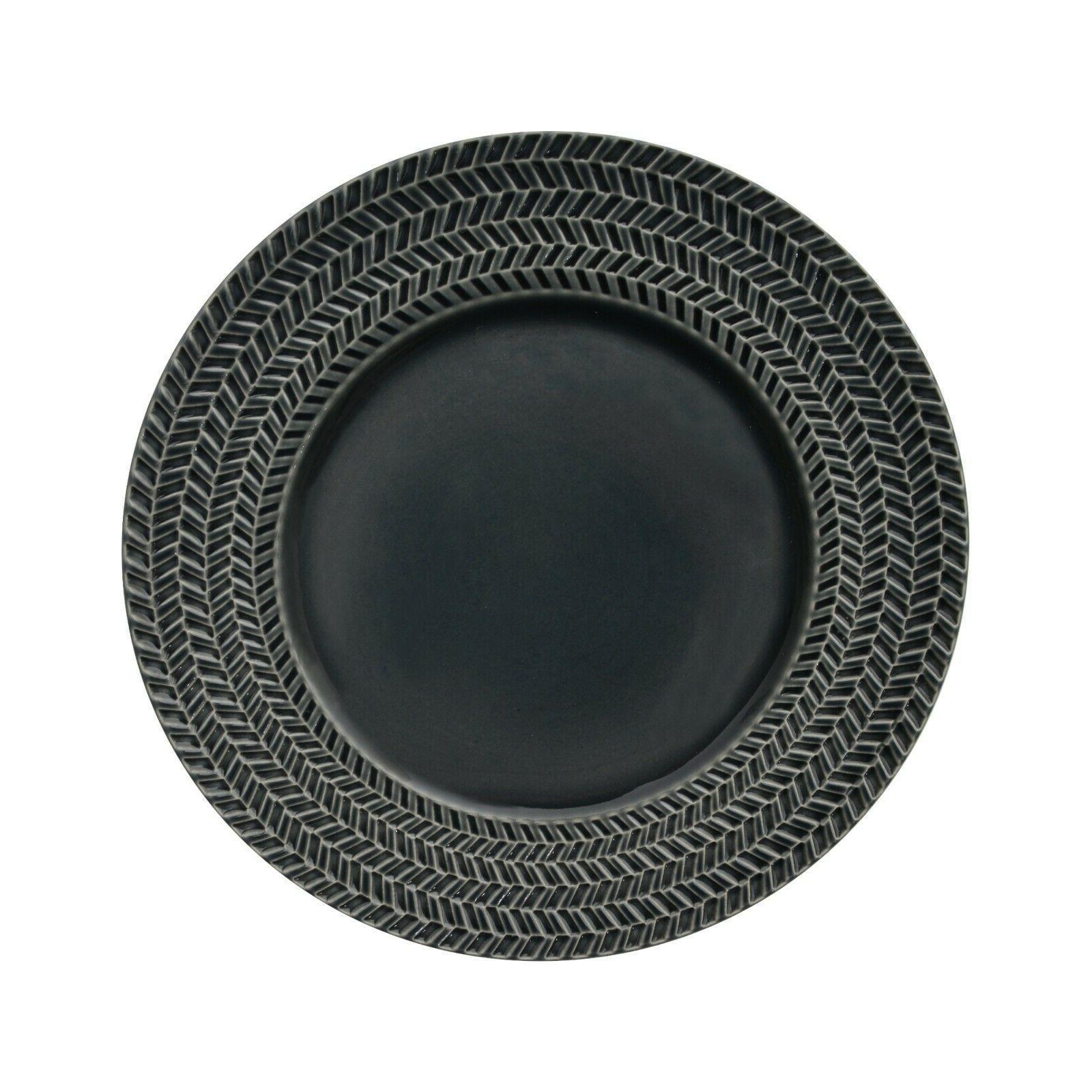 Sango Tweed Grey 16 Reactive Stoneware Dinnerware