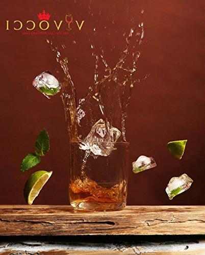Vivocci Unbreakable Rocks 12.5 Whiskey & Double Old Glasses | Base for Bourbon Perfect Bars | Barware | 2