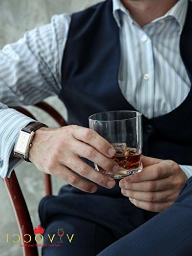 Vivocci Unbreakable Rocks 12.5 oz & Old Glasses Base | Bourbon & Perfect For Bars Dishwasher Barware of 2