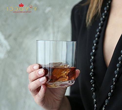 Vivocci Rocks oz & Glasses Base | Perfect For Bars | Dishwasher Barware | Set 2