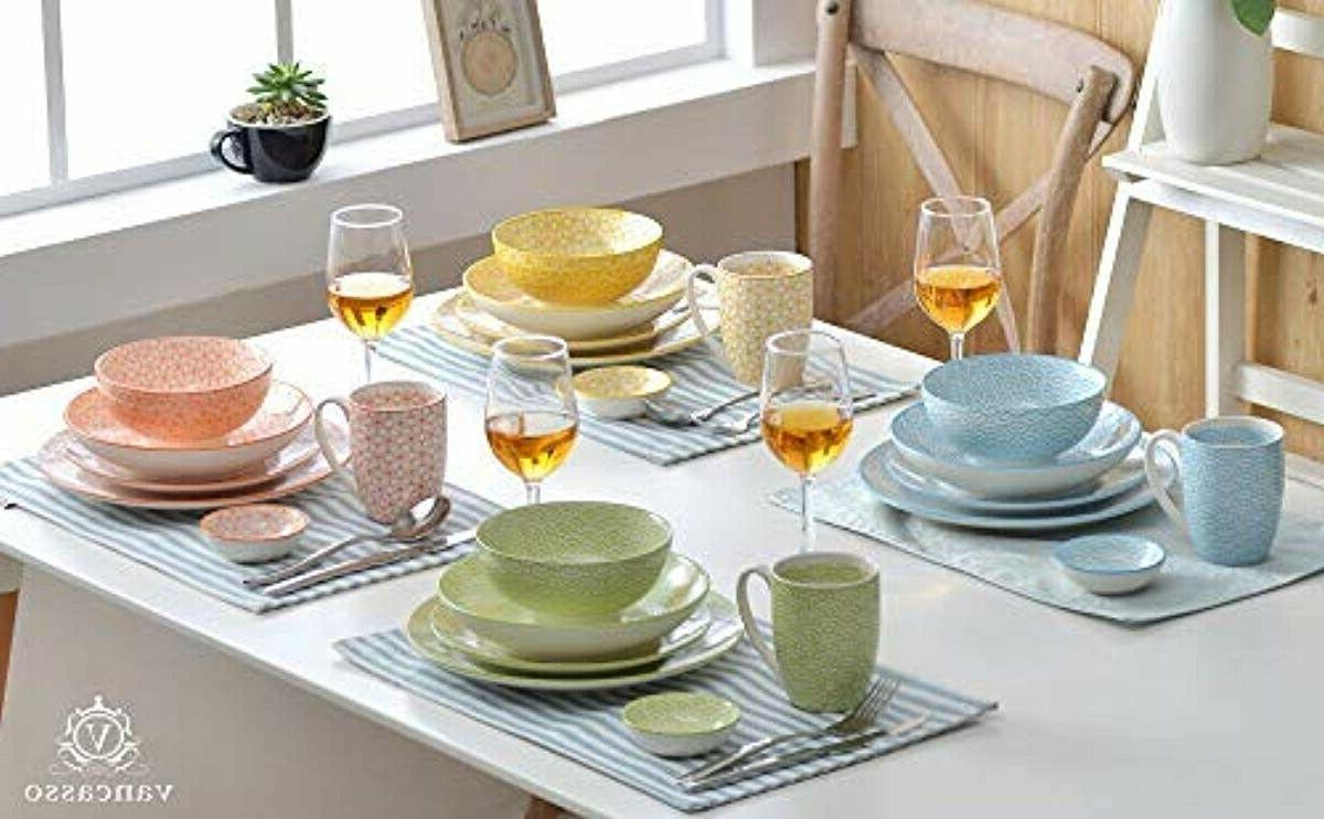 VANCASSO 16 Piece Dinnerware Four and Two
