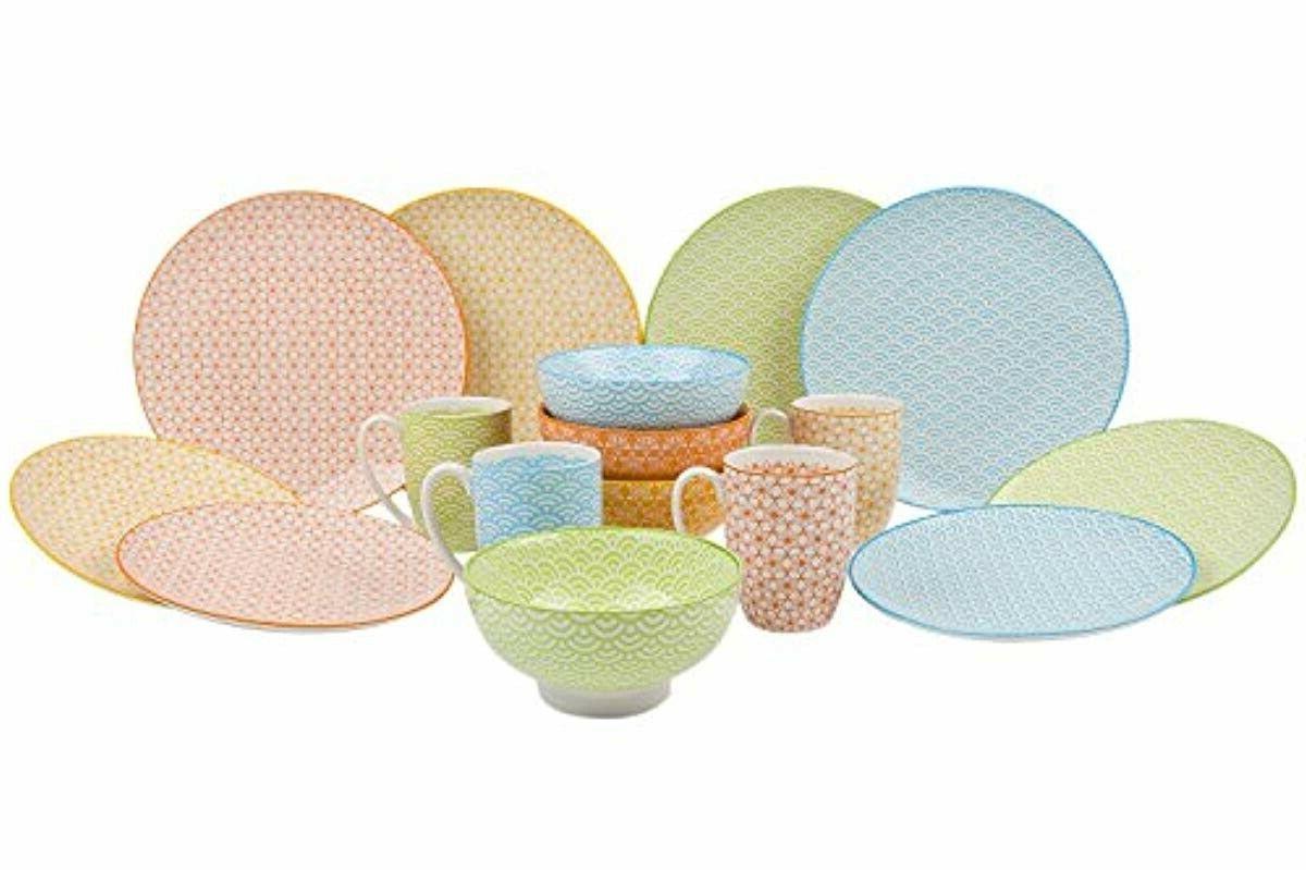 vancasso 16 piece porcelain dinnerware set of