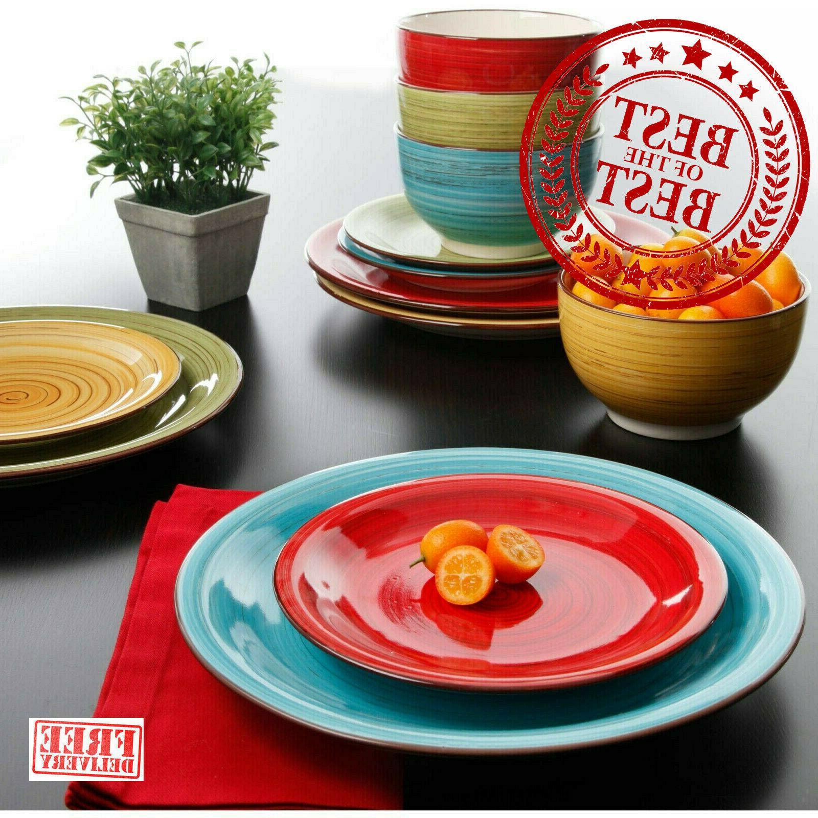 vibrant festival dinner bowls plates