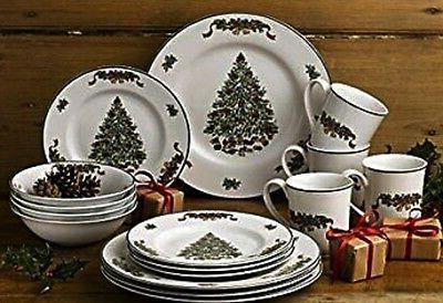 Johnson Brothers 16-Piece Victorian Christmas Dinner Set, Mu