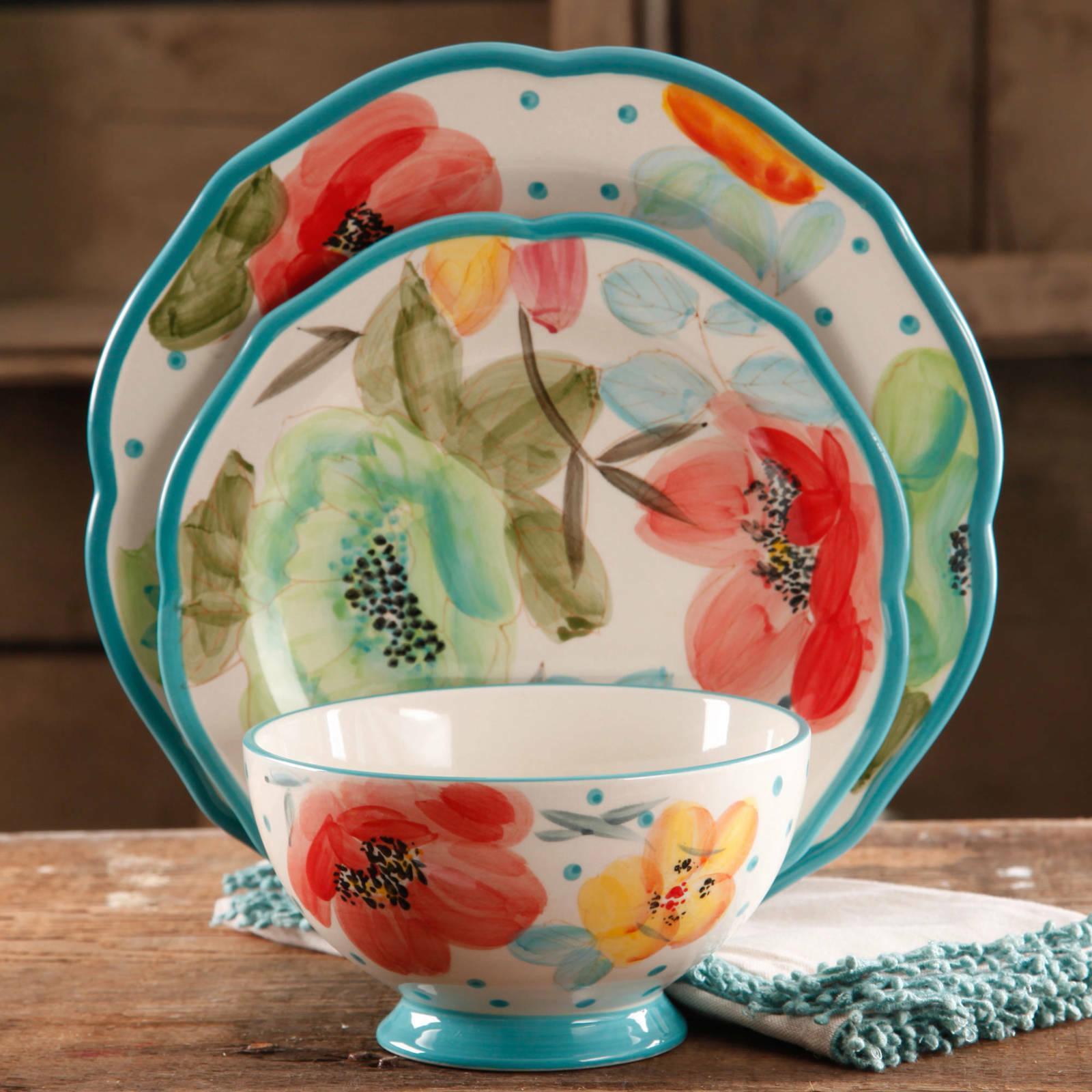 vintage bloom 12 piece dinnerware set