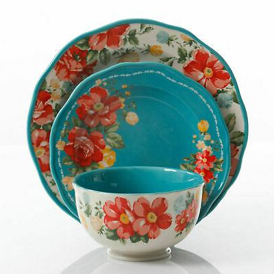 Floral Set for Plate Teal