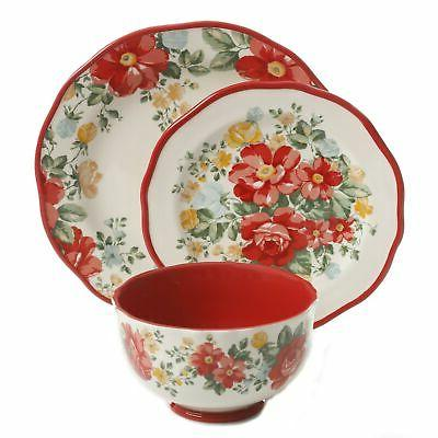 The Floral Red Dinnerware Set