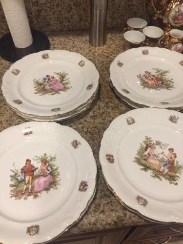 walbrzych poland china 23 piece plates 12