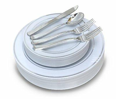 Plastic Wedding Plates.Occasions Wedding Plastic Plates Disposable Dinnerware With Silverware For