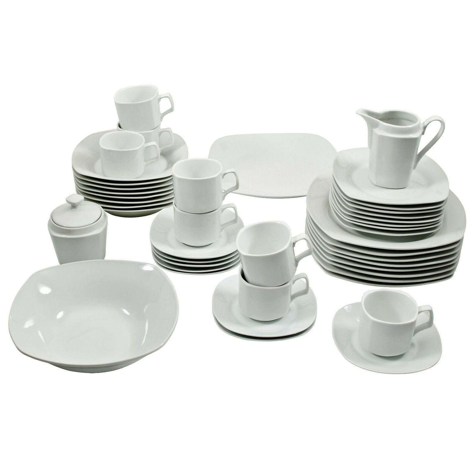 White Dinnerware 45 Settings Kitchen