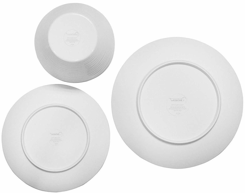 White Dinnerware Set, 12-Piece