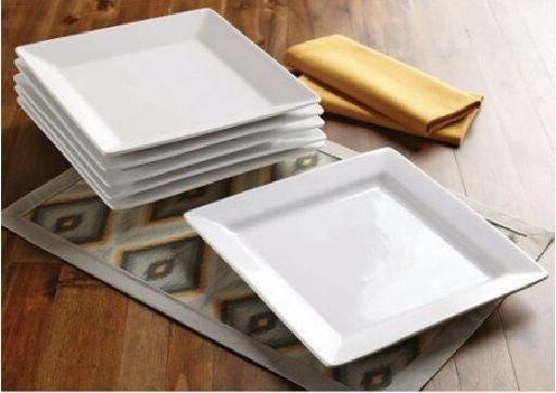 White 16-32 Porcelain Dinnerware Set or 6-12 Plates