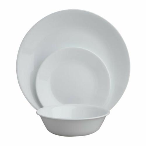 winter frost white dinnerware set 18 piece