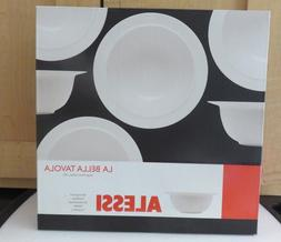 "Alessi La Bella Tavola Porcelain  Off White 10"" Bowl ~ Ettor"